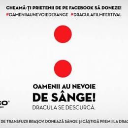 Bilete gratuite la Dracula Film Festival pentru donatorii de sânge