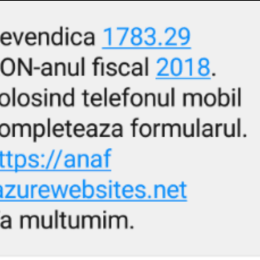 """ANAF anunță o fraudă prin SMS. """"Nu accesați linkul"""""""