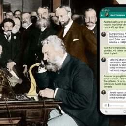 """Personalitățile anului 1877 discută pe Whatapp în cadrul expoziției multimedia interactive de la Muzeul """"Casa Mureșenilor"""" din Brașov"""