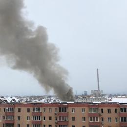 FOTO VIDEO Explozie la o pensiune de pe strada Albăstrelelor