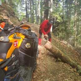 Pregătiri pentru redeschiderea traseelor montane. Potecile din zona Săcele au fost eliberate de copacii căzuți