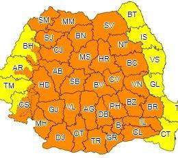 Cod portocaliu de ploi abundente și vijelii în Brașov, până mâine dimineață