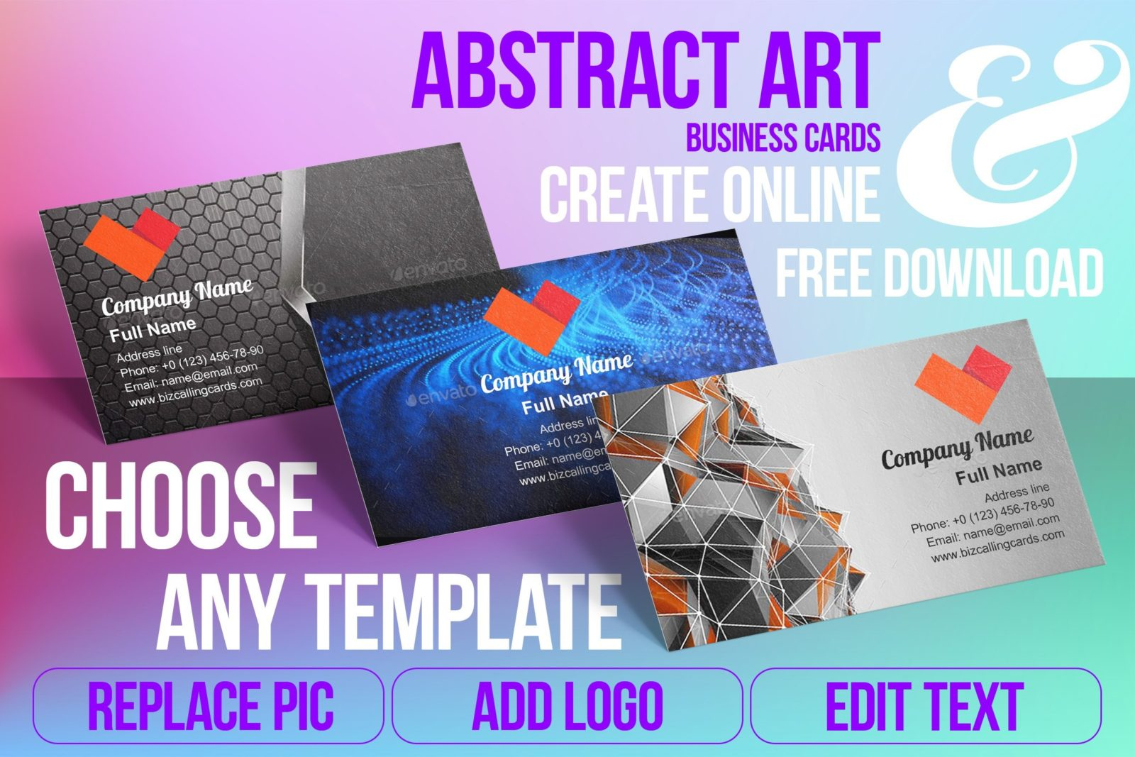 Business Card Templates For Abstract Art Free Download