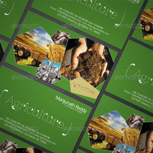 Agriculture fertilizer Business Card Template Free Download