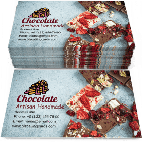 Artisan handmade chocolate Business Card Template