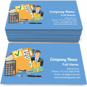 Auditor and Accounting Business Card Template