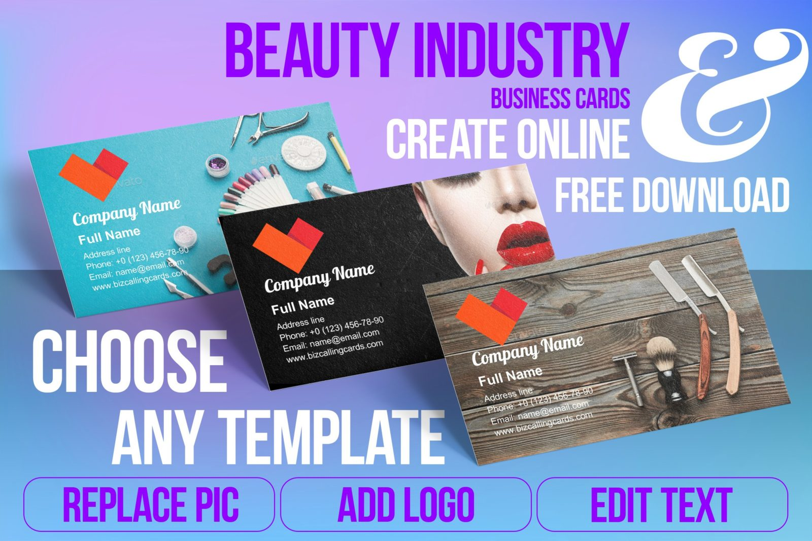 Business Card Templates For Beauty Industry Free Download