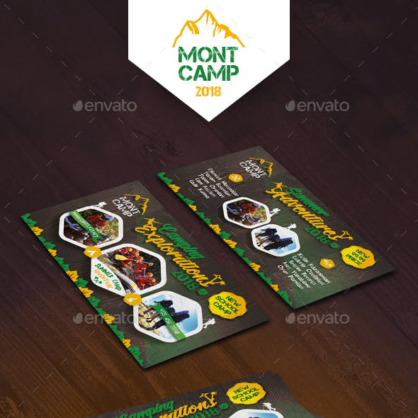 Camping Adventure Business Card Templates Free Download