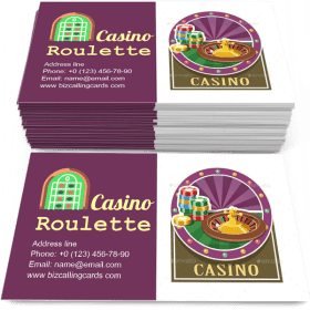 Casino Roulette and Counter Business Card Template