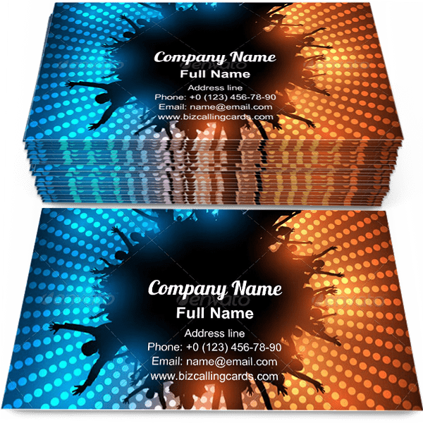 Sample of Circle Party People calling card design for advertisements marketing ideas and promote celebration branding identity