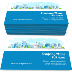 Cityscape with Old Parliament Building Business Card Template