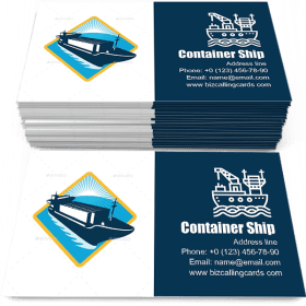 Container Ship Retro Business Card Template