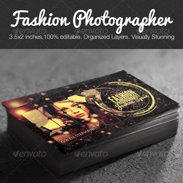 Creative Fashion Photographer Business Card Free Download