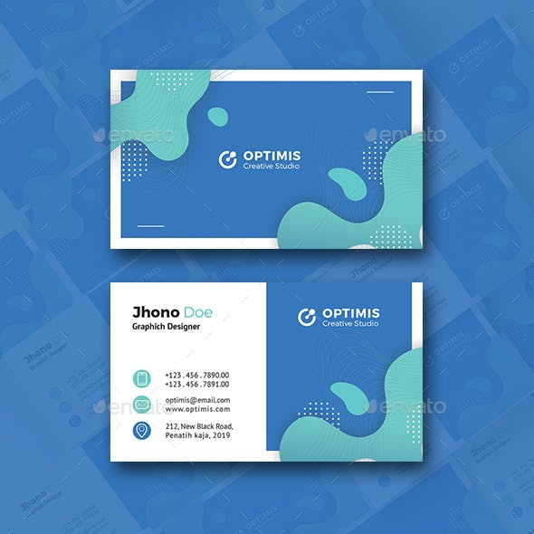 Creative colourful pattern Business Card Free Download
