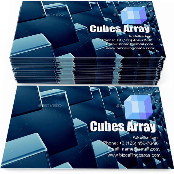 Sample of Cubes array as abstract calling card design for advertisements marketing ideas and promote geometric style branding identity