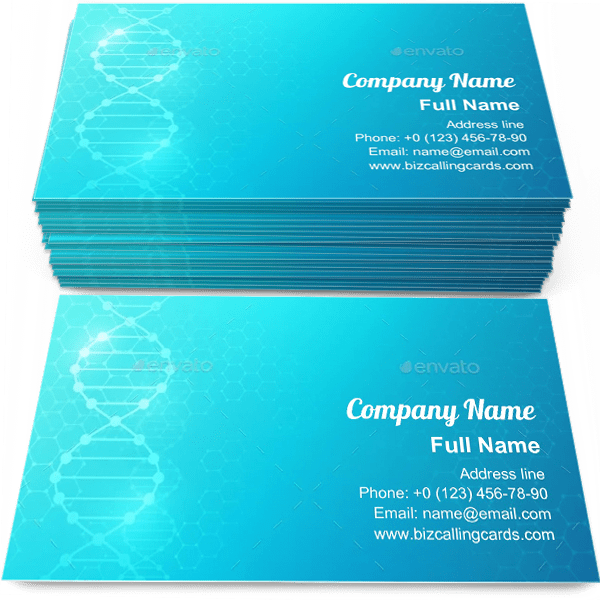 Editable Dna Biomedical Research Business Card Template