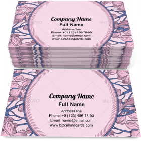 Decorative Floral Frame Business Card Template