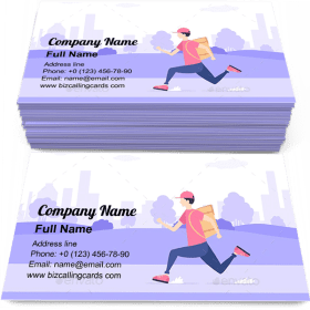 Delivery by Courier Business Card Template