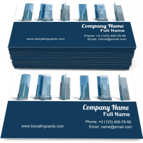 Different skyscraper buildings Business Card Template