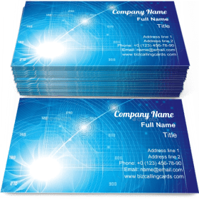 Digitally Generated imagination Business Card Template