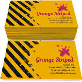 Dirty grunge striped Business Card Template
