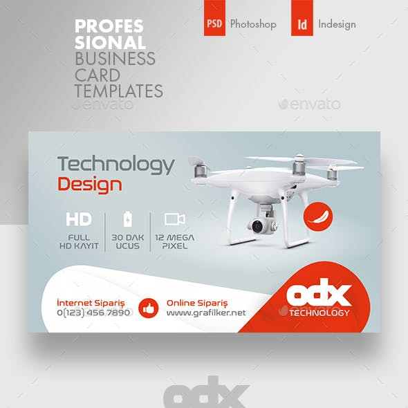 Drone Technology Business Card Templates Free Download