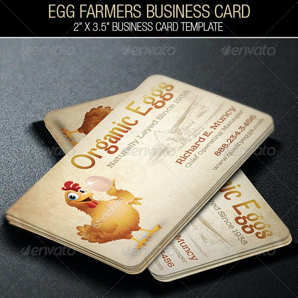 Egg Farmers Business Card Free Download
