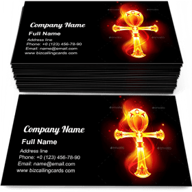 Egyptian ankh Business Card Template