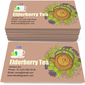 Elderberry Tea in Teapot Business Card Template