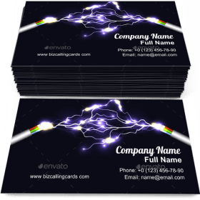 Electric Arch Business Card Template