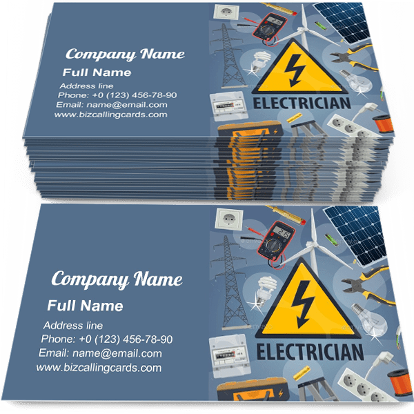 Editable Electric Service Business Card Template