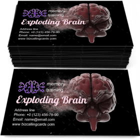 Exploding brain Business Card Template