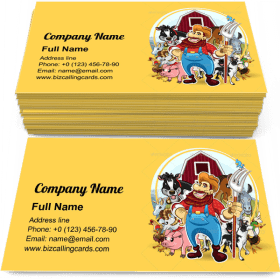 Farm Life Theme Business Card Template