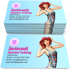 Fashion Beach swimsuit Business Card Template