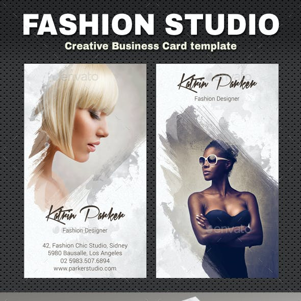 Fashion Studio Business Card Free Download