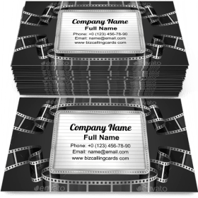 Film Strip Business Card Template