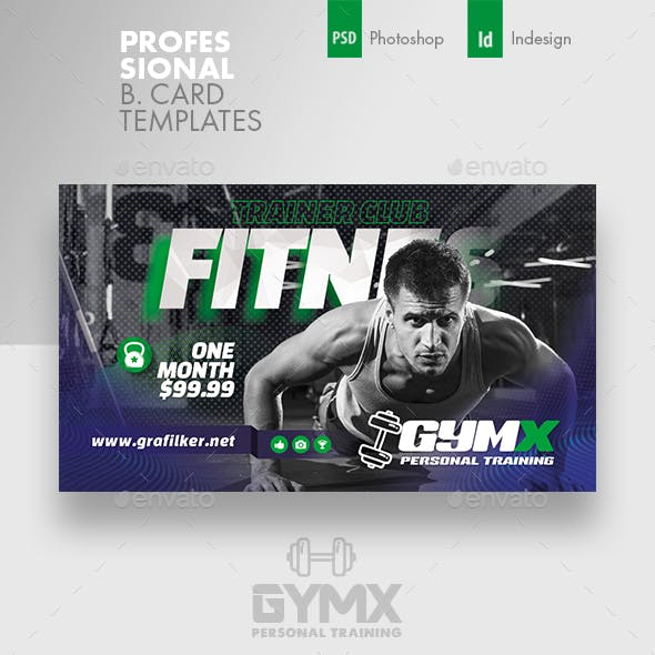 Fitness Trainer Business Card Templates Free Download