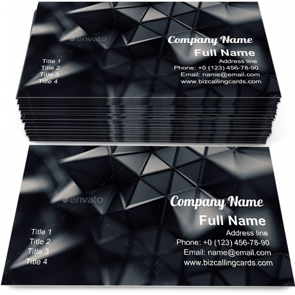 Sample of Futuristic polygonal shape calling card design for advertisements marketing ideas and promote Contemporary geometric branding identity