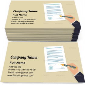 Hand signing contract Business Card Template