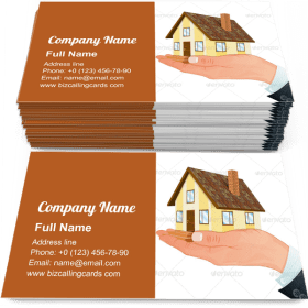 Hand with House Business Card Template