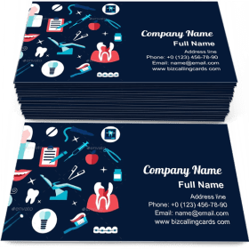 Health And Dental Themed Business Card Template
