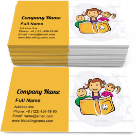Kids Enjoying Study Business Card Template