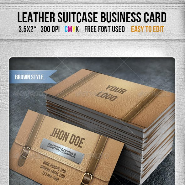 Leather Briefcase Business Card Free Download
