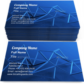Low poly minimalistic Business Card Template
