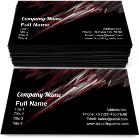 Noisy low poly object Business Card Template