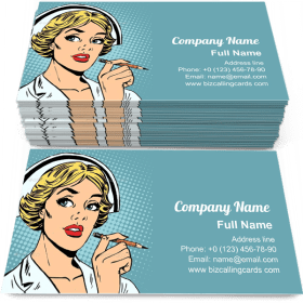 Nurse Writes Diagnosis Business Card Template