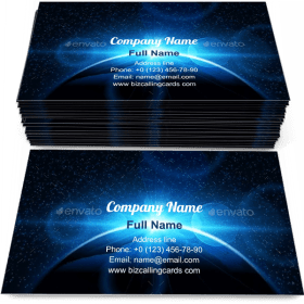 Planet Earth with Sunrise Business Card Template