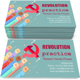 Raised Hands Power Business Card Template