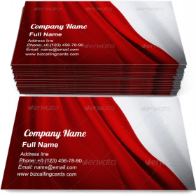 Red Curtain Business Card Template