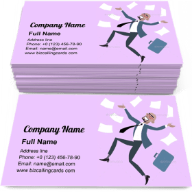 Rejoices Luck Success Business Card Template